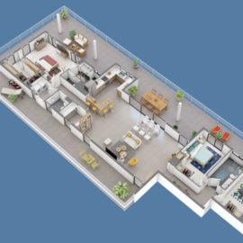Résidence SKY NUI penthouse plan